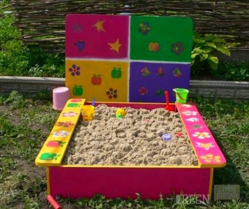 Как своими руками построить детскую песочницу