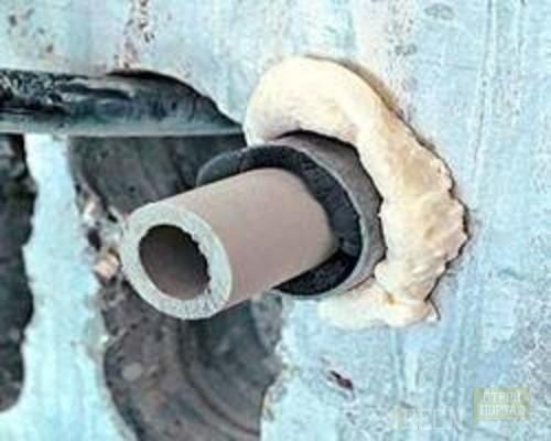 Герметизация стыка бетонного кольца