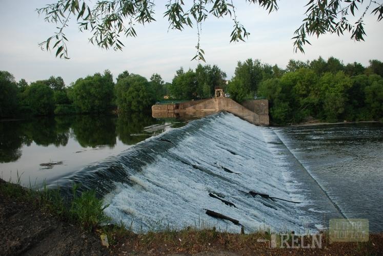 Схема плотины и пруда