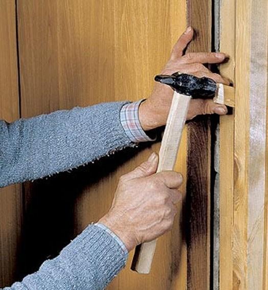 Установка деревянной двери своими руками фото