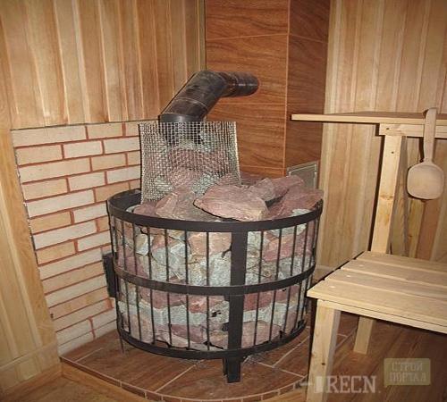 Банная печь своими руками из кирпича и металла