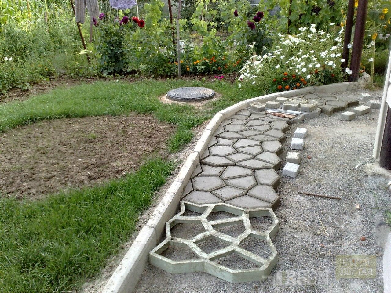 Садовые дорожки из плиток своими руками фото 365