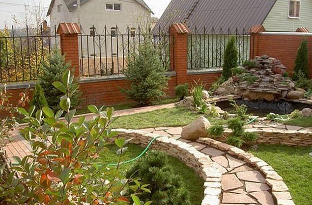 Дизайн садовых дорожек фото