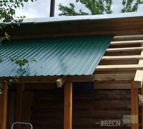 Как сделать крышу над верандой