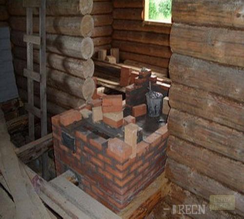 Как построить печь на даче своими 74