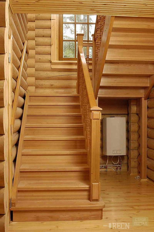 Лестница дачи своими руками дерева фото 52