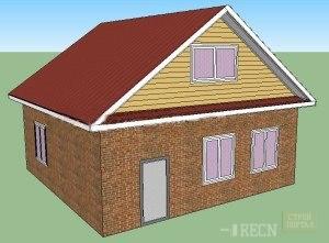 Крыша двухскатная своими руками с фронтоном