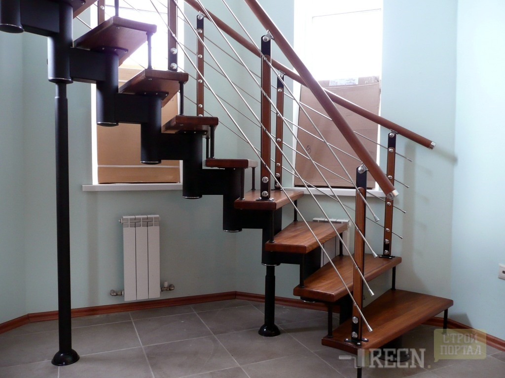 Вертикальная лестница своими руками