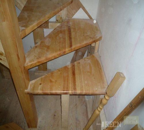 Лестница с забежными ступенями своими руками пошаговая инструкция