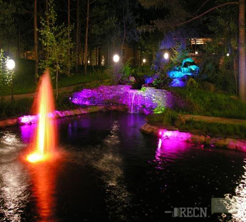 Подсветка на фонтан своими руками