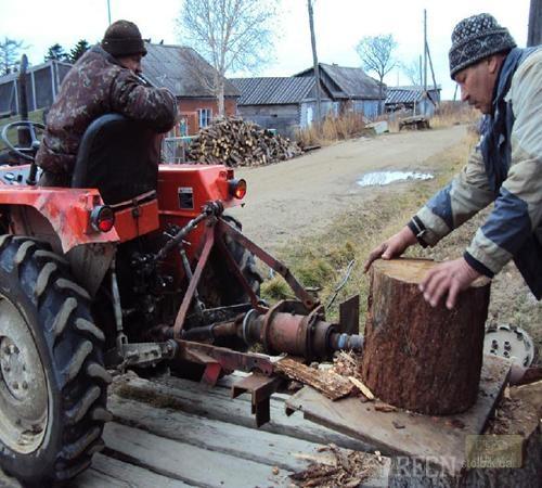 Дровокол своими руками для трактора 83