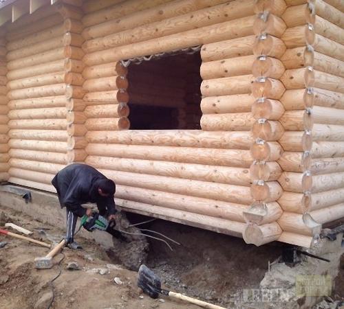 Как под старый домом сделать фундамент