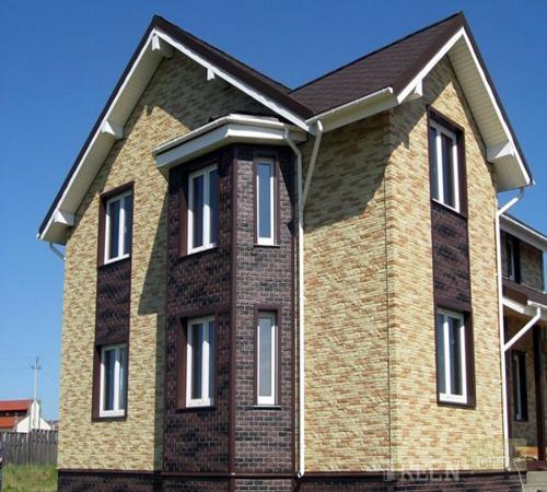 Частный дом отделка фасада фото