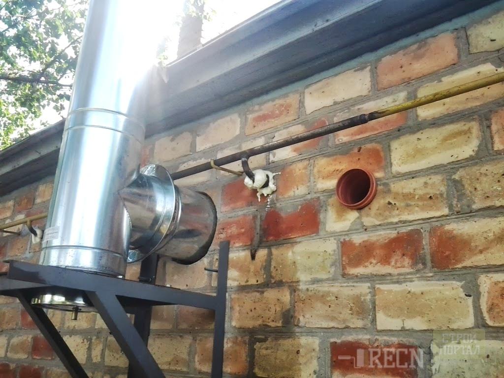 Вытяжная труба для газового котла отопления своими руками 74