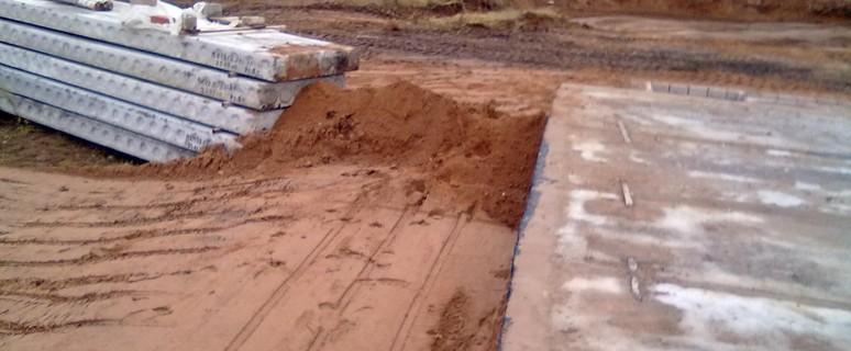Фундамент из песка 50
