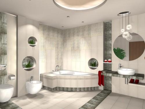 керамическая плитка для ванной Польша