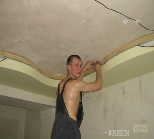 2 уровневые потолки своими руками фото