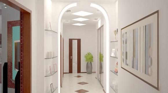 Комбинированная подсветка коридора