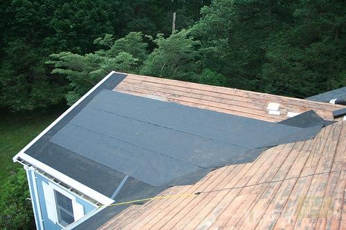 Как покрыть ломаную крышу рубероидом