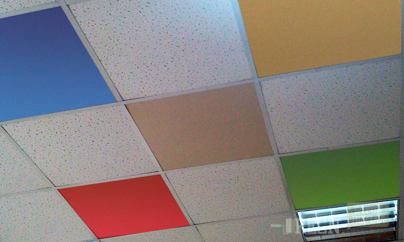 Painting ceiling tile grid