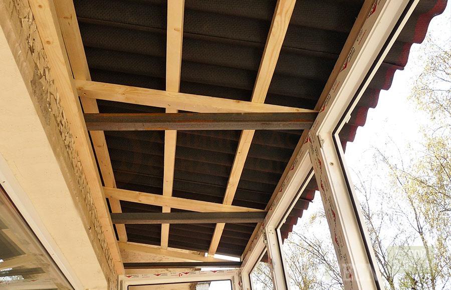 Как сделать крышу на балконе. устройство крыши на балконе. в.