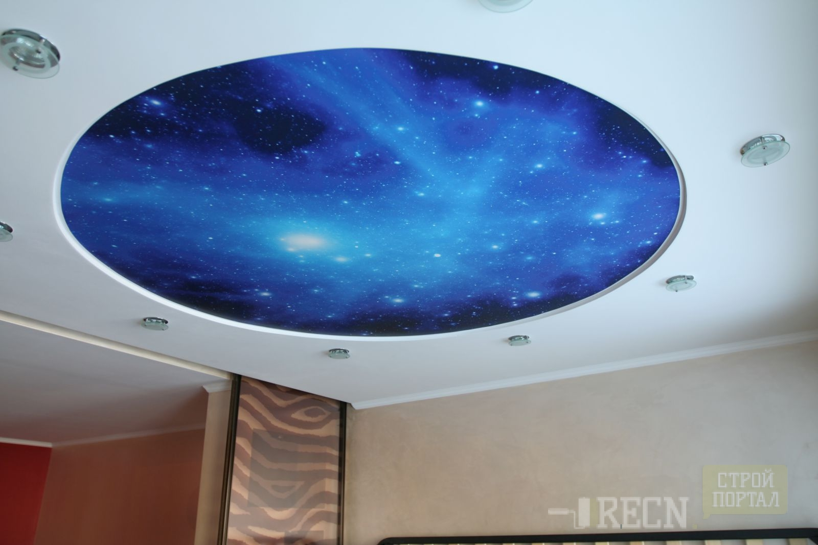 Как сделать натяжной потолок звездное небо фото 662