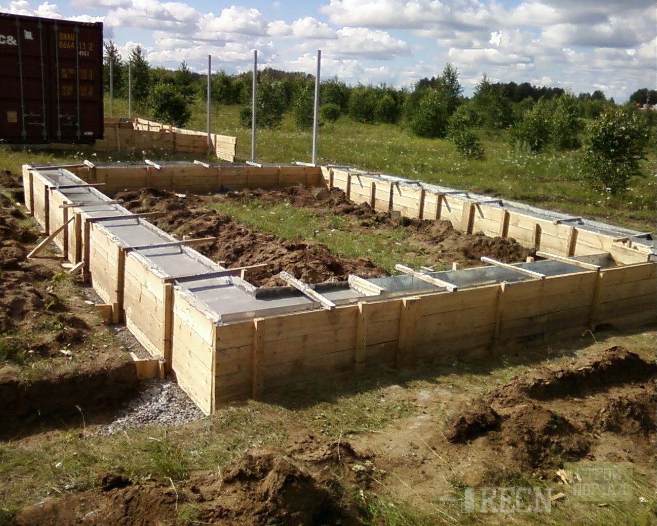 Как и из чего сделать фундамент для бани