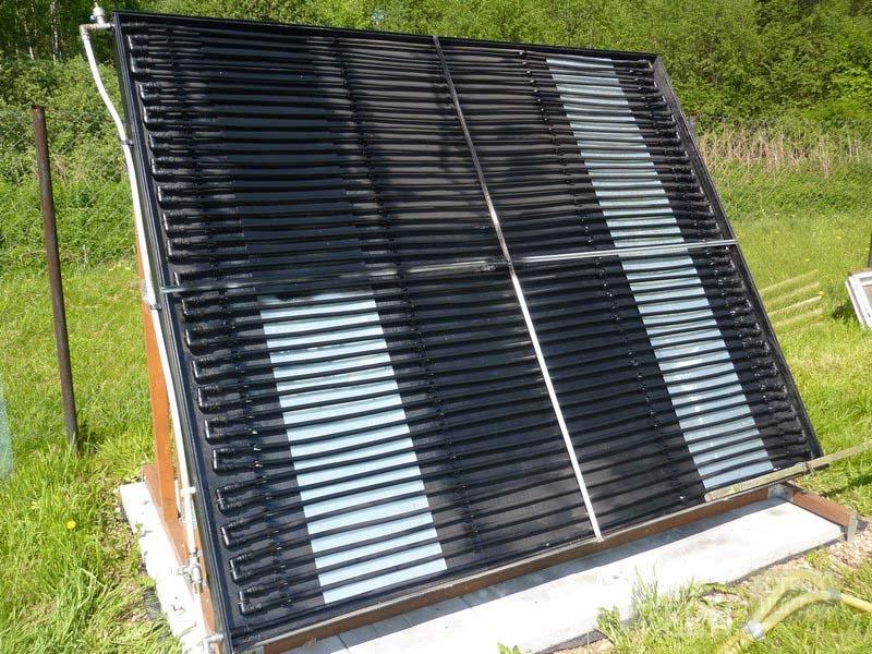 Солнечные коллекторы для дачи своими руками