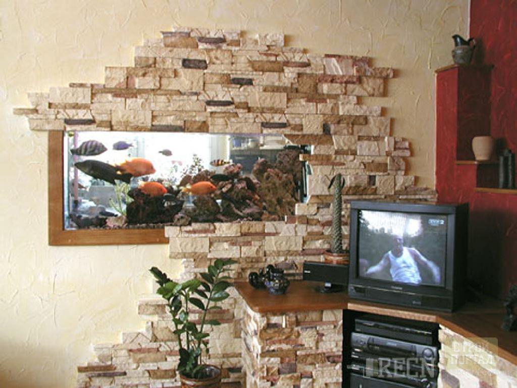 Декор стен камнем своими руками 20