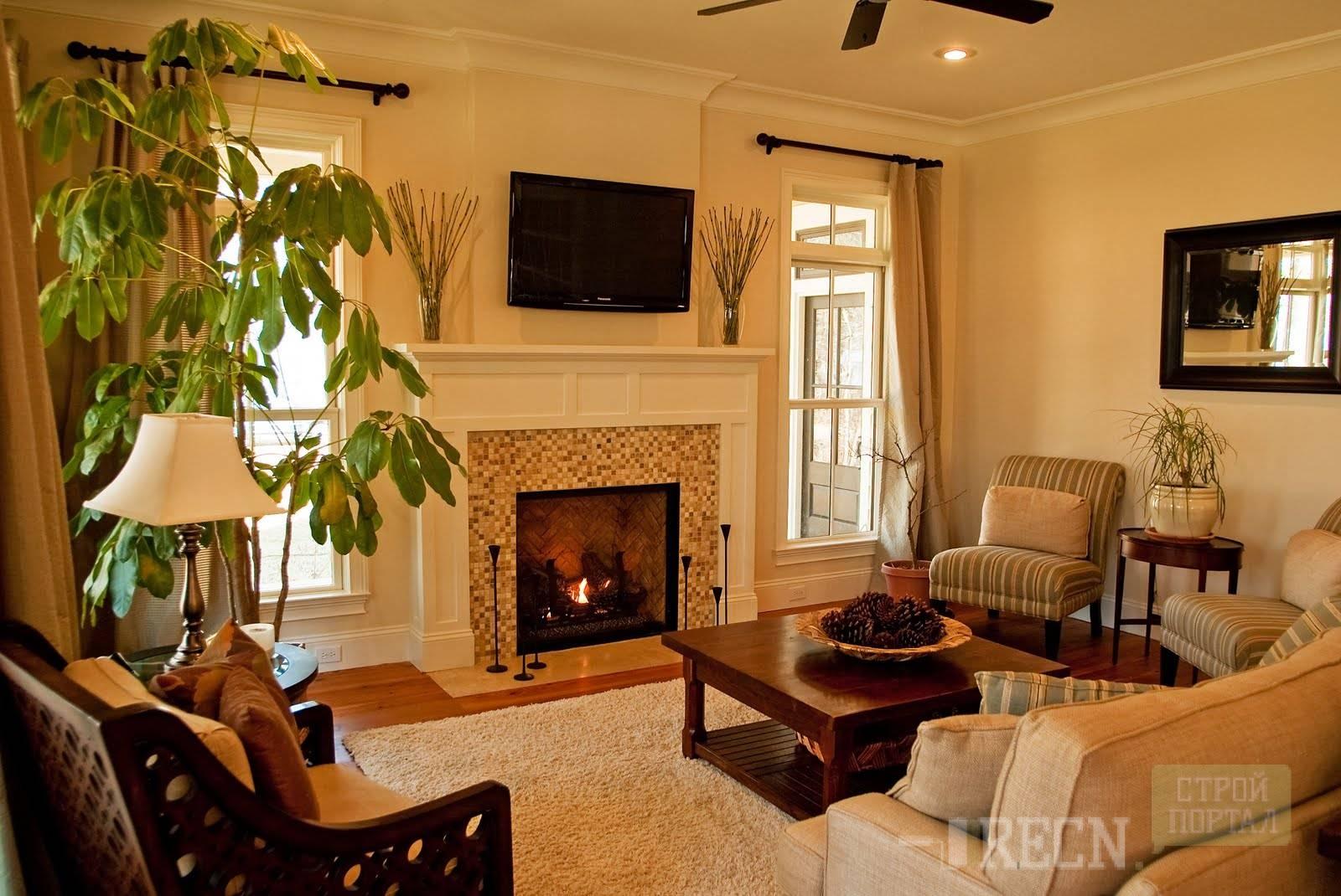 Дизайн гостиной с электрокамином и телевизором барбекю для дачи стальная