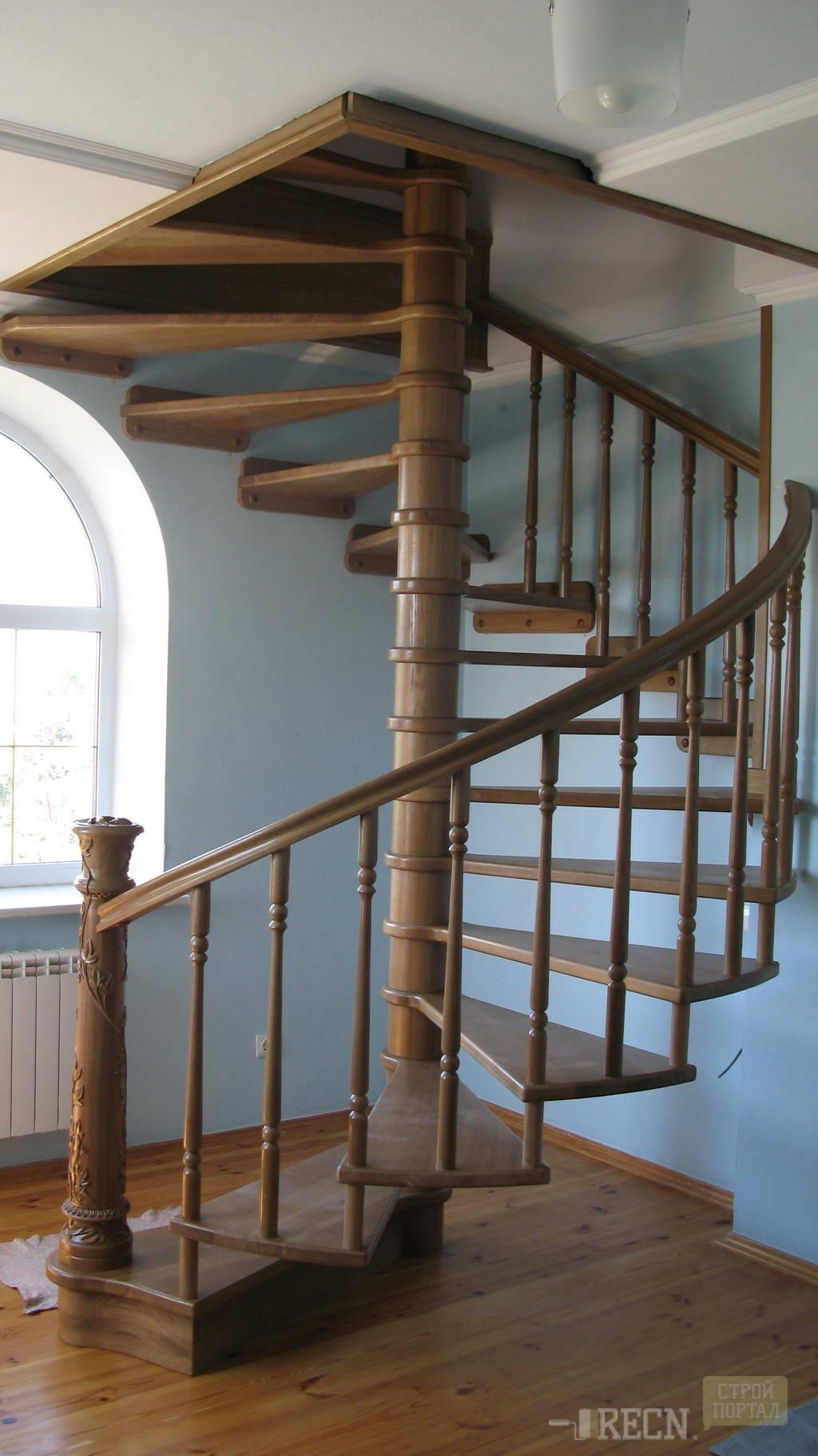 Винтовая лестница своими руками 88