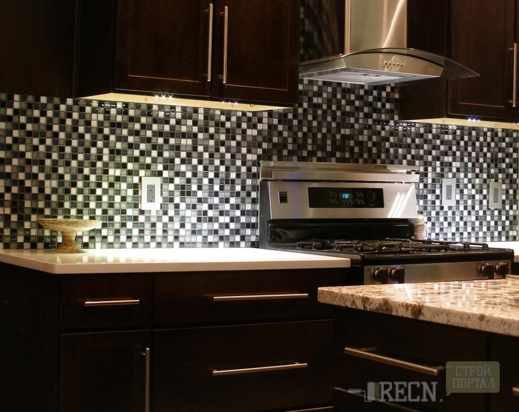 Плитка для рабочей стенки на кухне дизайн