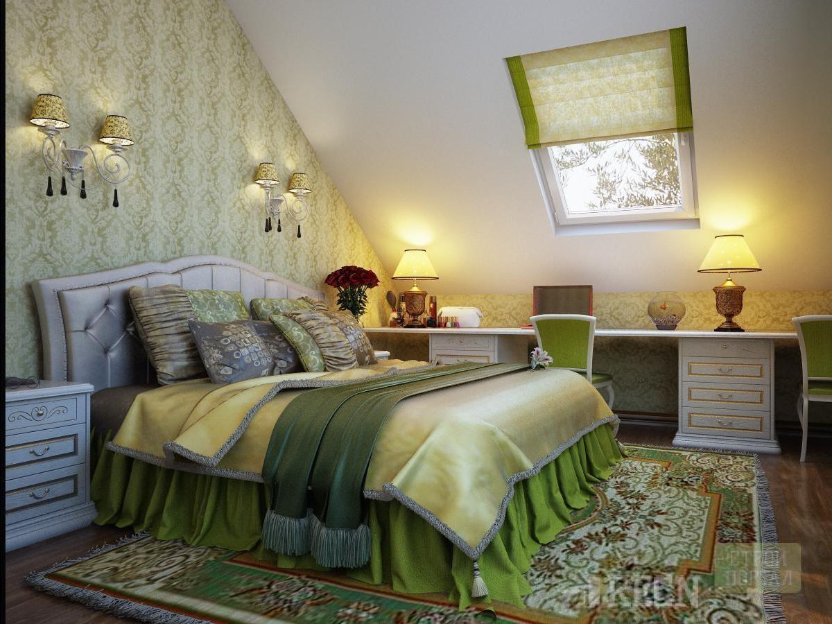 Дизайн спален со скошенными крышами