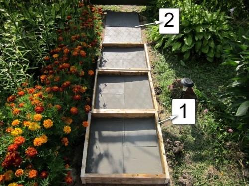 Как сделать бетонные дорожки на даче своими руками недорого