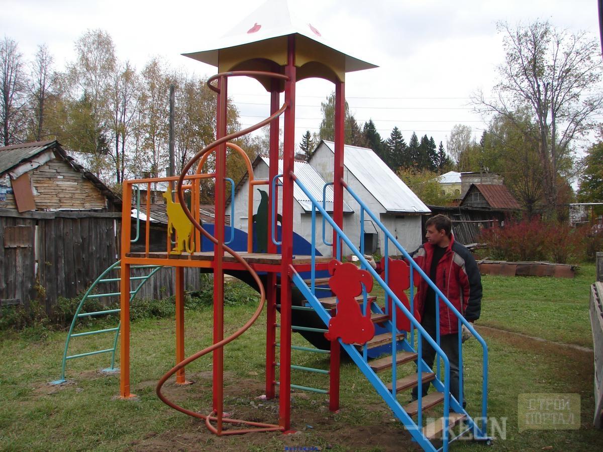 Детские площадки из дерева своими руками