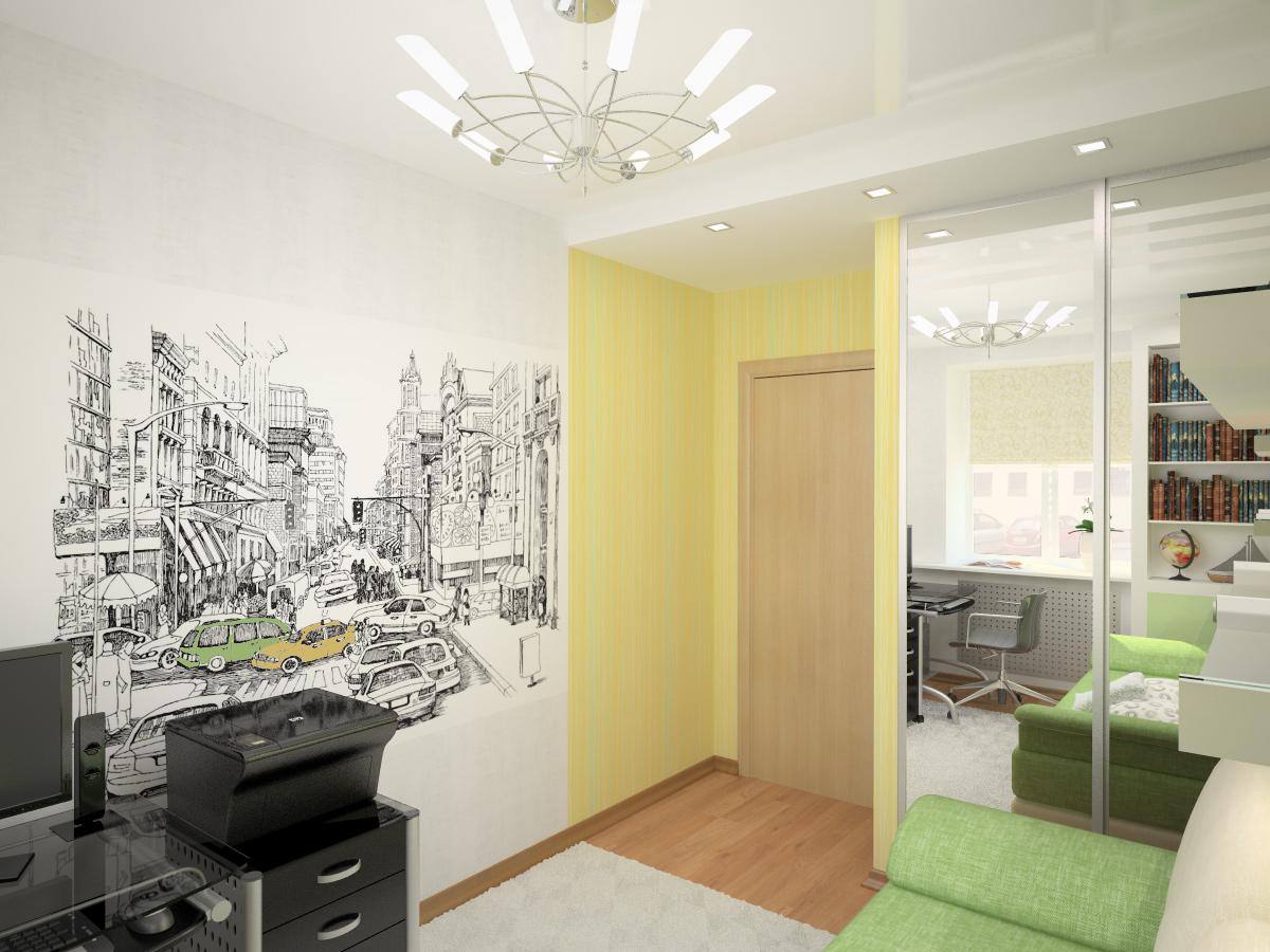 Дизайн узкой комнаты для подростка в хрущевке
