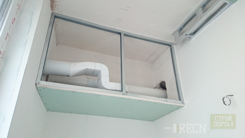 Короб из гипсокартона на потолке размеры 176