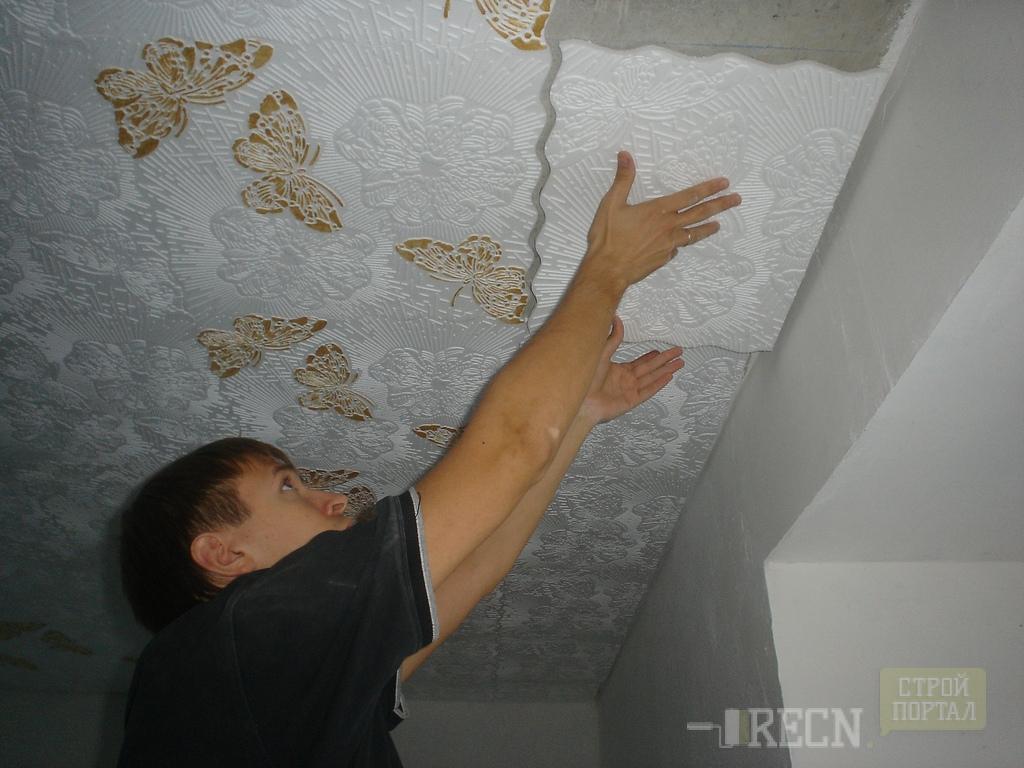 Отделка потолка своими руками с фото