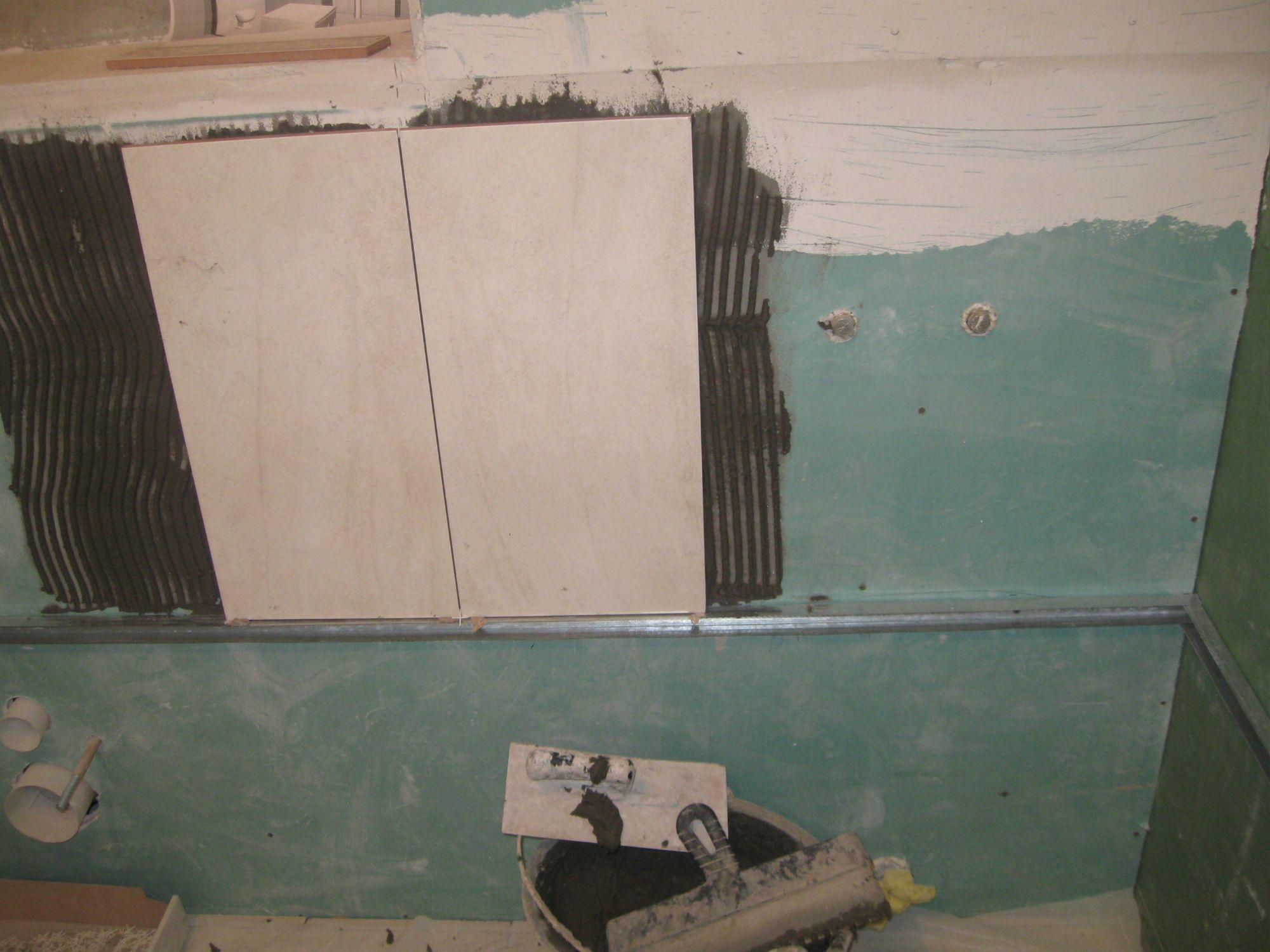 Плитку на гипсокартон в ванной своими руками фото 491