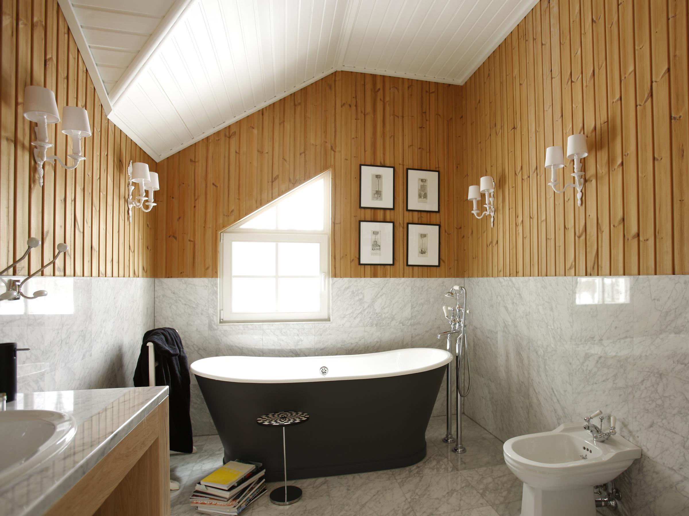 Ванная комната из дерева своими руками