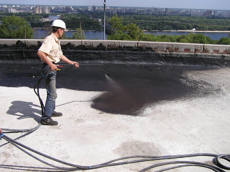 Битумная гидроизоляция крыши мастика резино-битумная холодная мрб-х