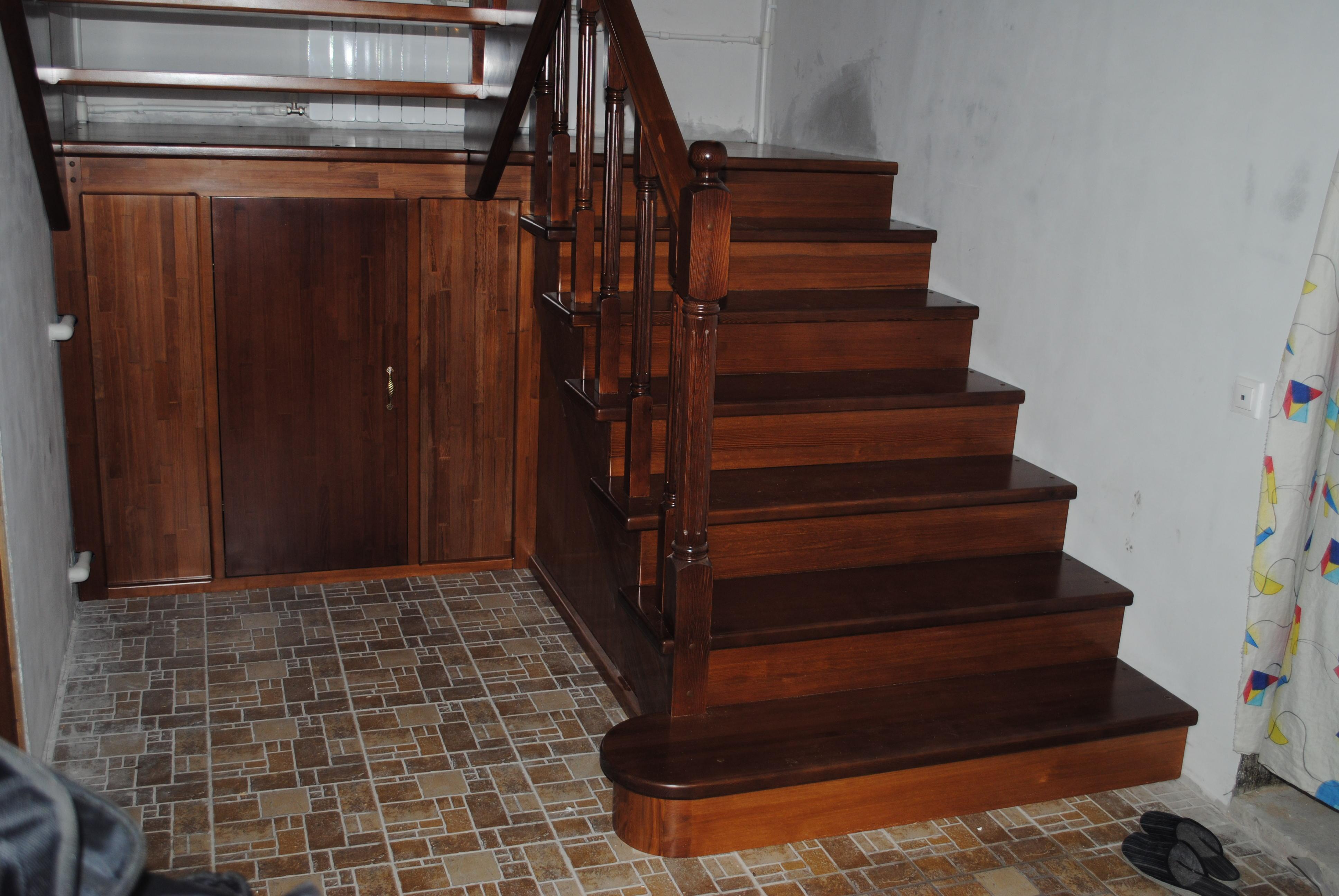 Лестница с поворотом на 180 своими руками 521