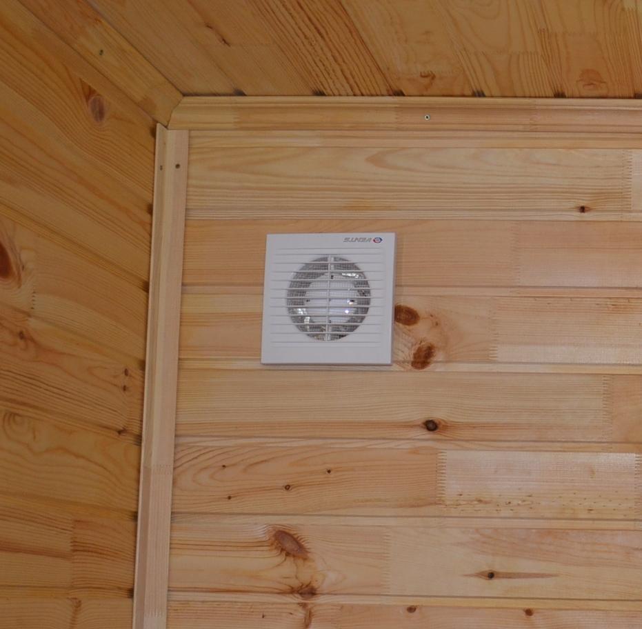 схема вытяжной вентиляции через стену