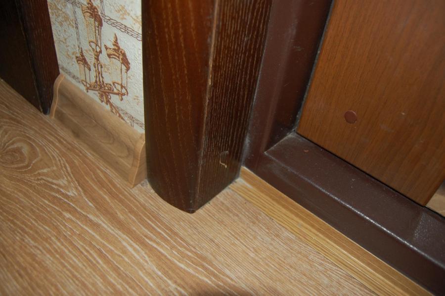 установка ламината на входную дверь
