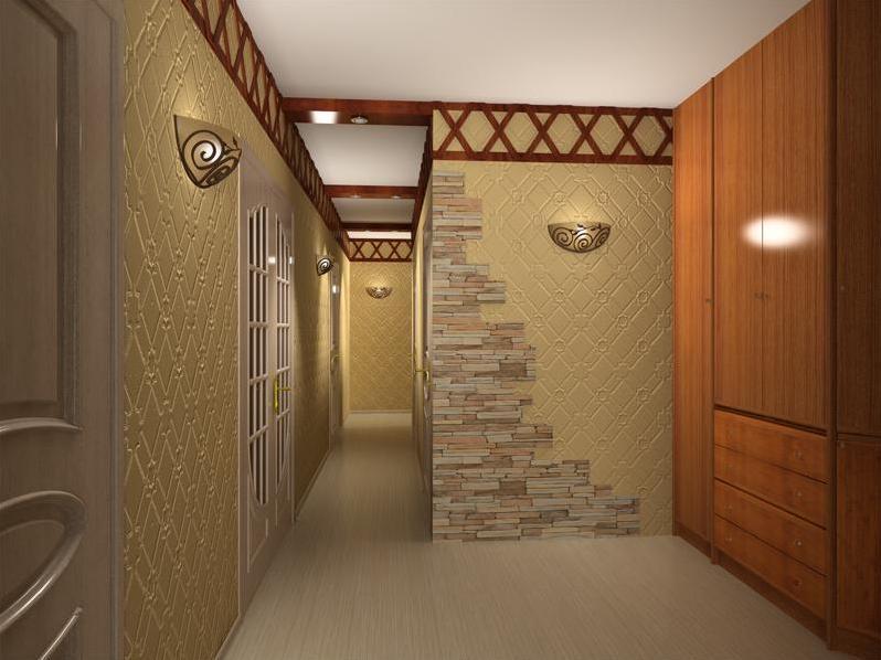 Дизайн прихожей в частном доме своими руками