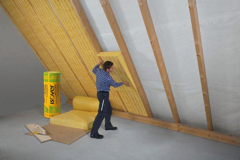 457Утепление пола крыши изнутри