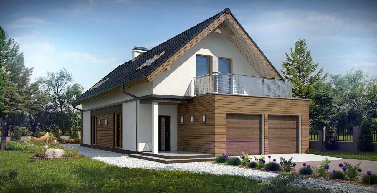 Дизайн дома с гаражом под одной крышей