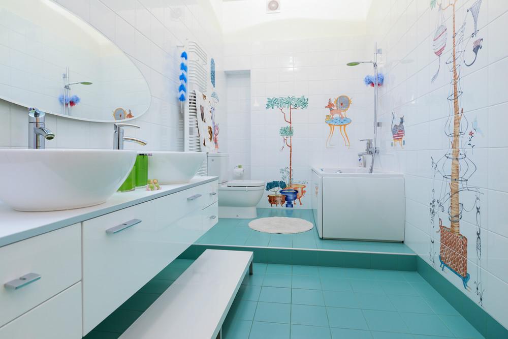Детская ванная комната фото