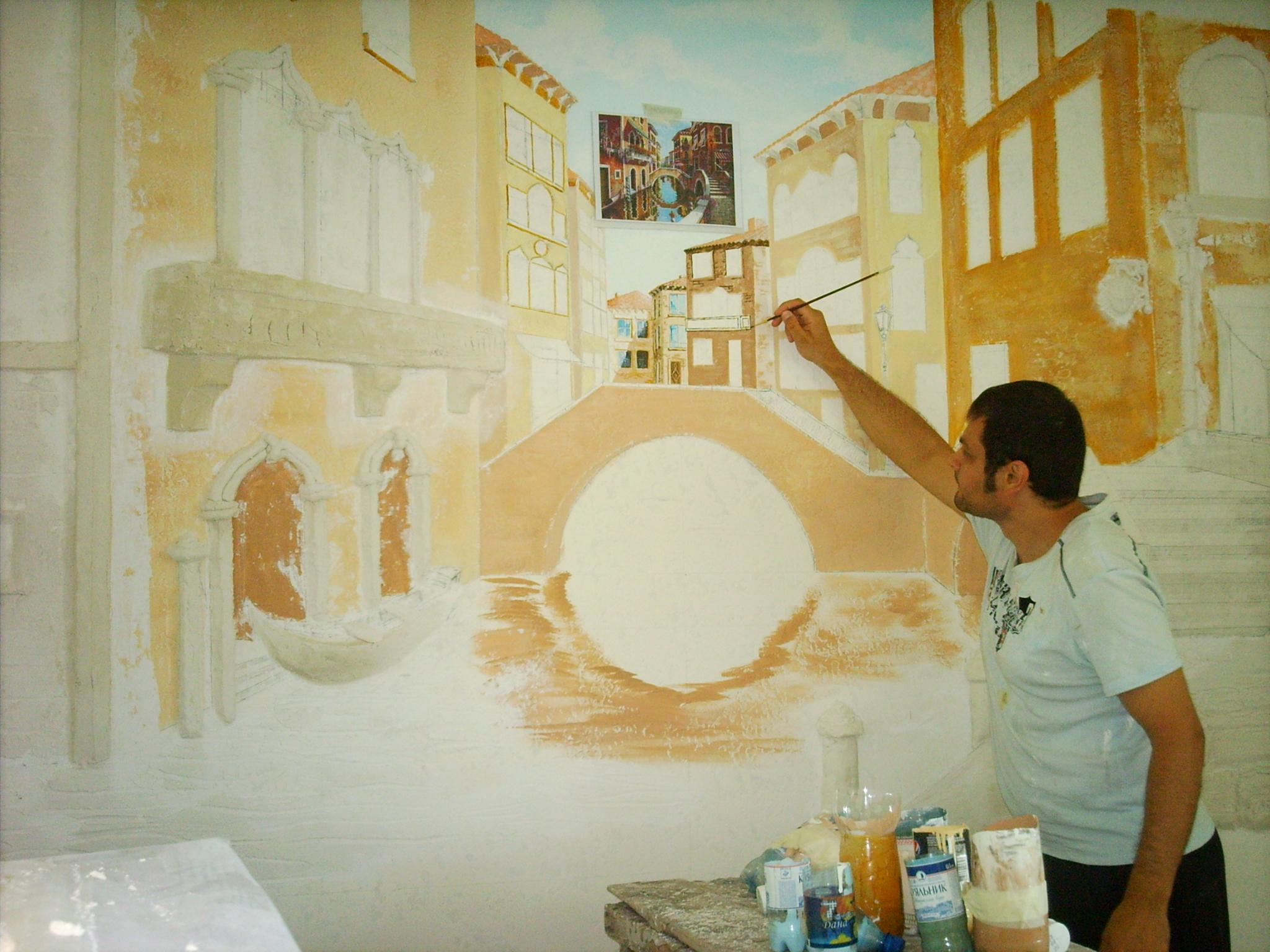 Роспись стен домов своими руками