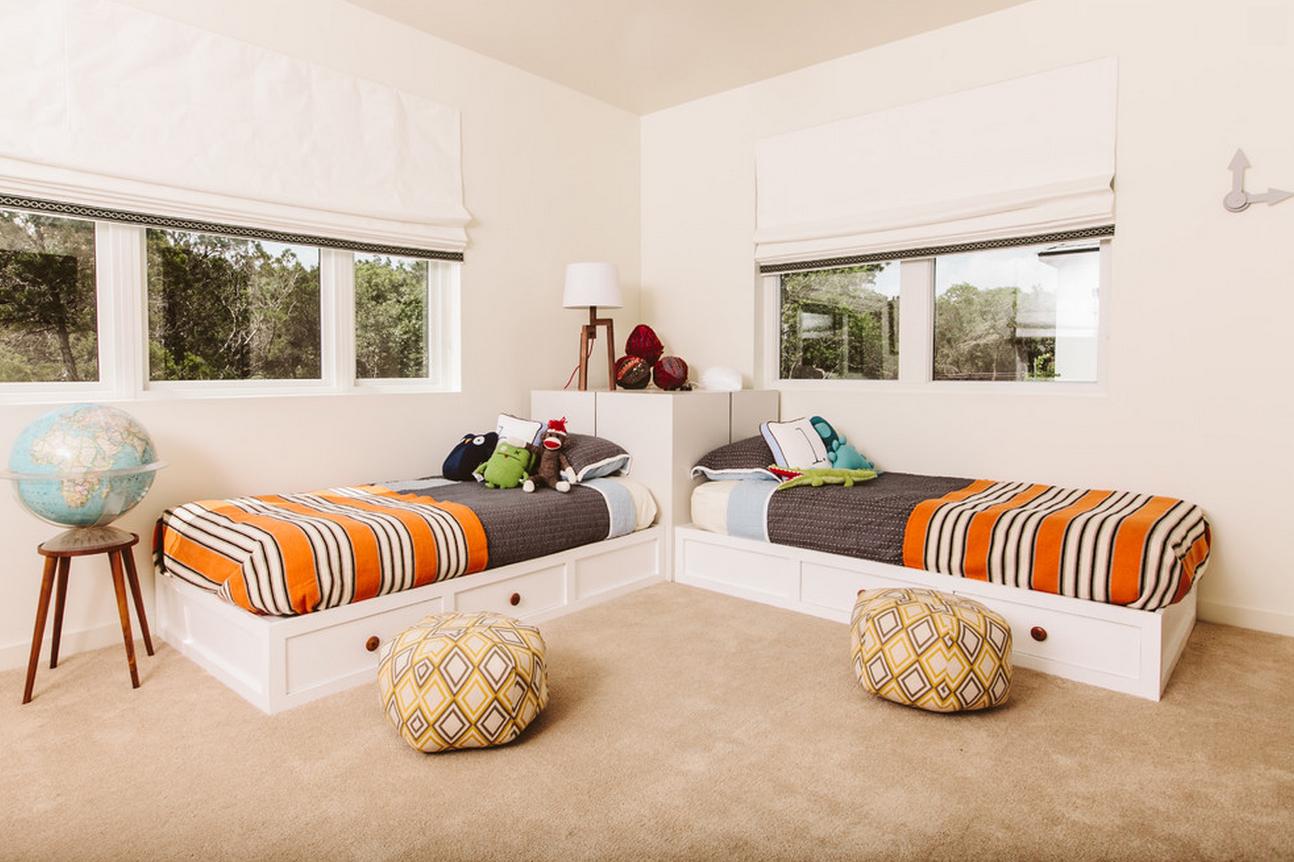 Как разместить две кровати в одной комнате